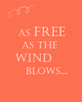 """As Free as the Wind Blows..."" Coastal / Nautical / Romantic Quote / Verse Printable Wall Decor Instant Download, Coral Wall Art"