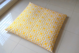 Yellow WATERPROOF OUTDOOR FLOOR CUSHION Cover LARGE 35""