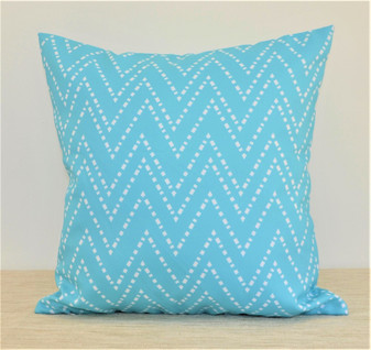 """Oceana"" Aqua/Turquoise WATERPROOF OUTDOOR Throw Pillow 18"" (OCEO18)"