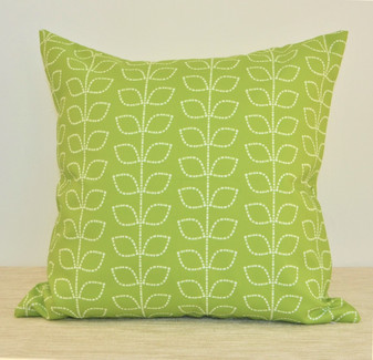 """Morning Meadow"" Green Leaves WATERPROOF OUTDOOR Throw Pillow 18"" (MORO18)"