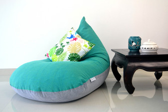 Turquoise bean bag large