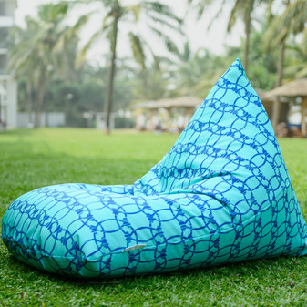 Barcelona turquoise waterproof outdoor bean bag cover