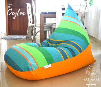 CEYLON Large bean bag cover in handloom cotton