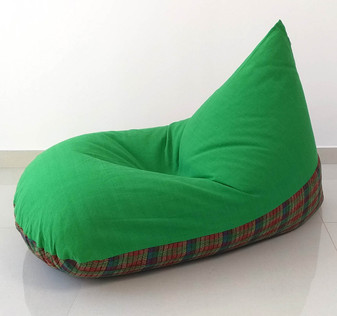 Green bean bag chair cotton