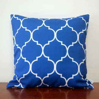 "Santorini Blue waterproof outdoor cushion cover 16"" or 18"""