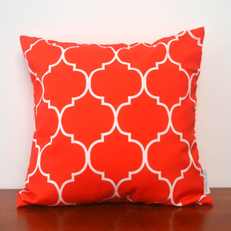"Spice orange waterproof outdoor cushion cover 16"" or 18"""