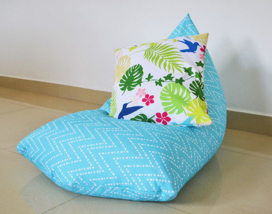 OCEANA In/Outdoor Bean Bag Cover Waterproof Aqua/Turquoise/Blue - Kids to Extra Large