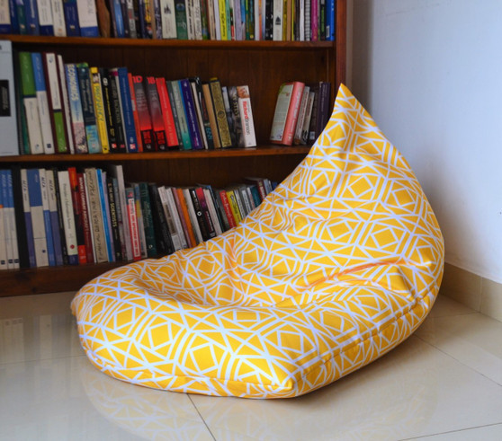 WATERPROOF OUTDOOR BEAN BAG Cover, Yellow, UV/Mould Resistant