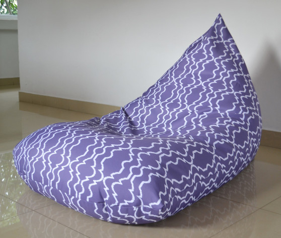 AUDREY Purple Outdoor Bean Bag Cover Waterproof - Kids to Extra Large