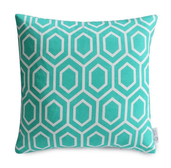 Nara Turquoise Cushion Cover with Slight Defects