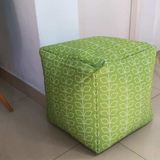 Green Pouf / ottoman / stool waterproof in/outdoor 16""