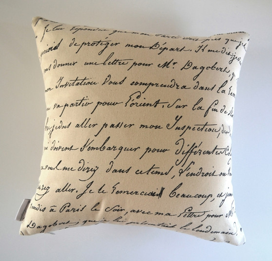 """Odessa"" Vintage Script/Bicycle WATERPROOF OUTDOOR Cushion Cover"