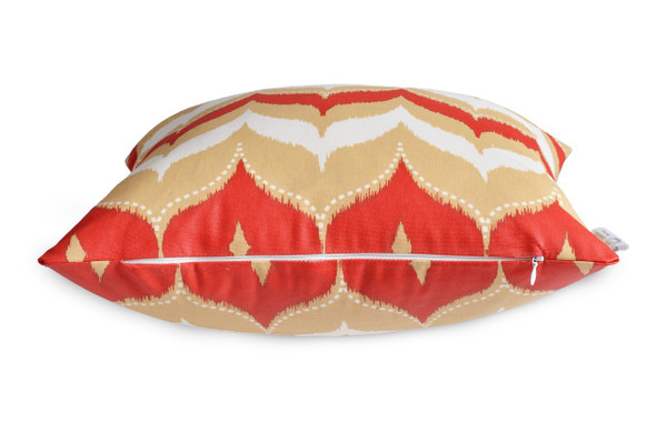 DEFECTIVE - Cheap Waterproof Outdoor Cushion Cover Red Beige
