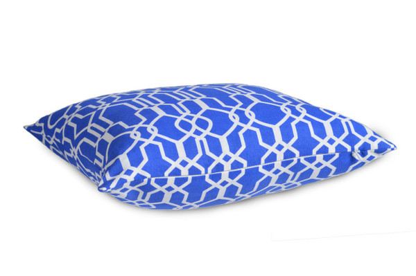 """GREEK AFFAIR"" 4 x Geometric/Floral WATERPROOF OUTDOOR Cushion Covers"