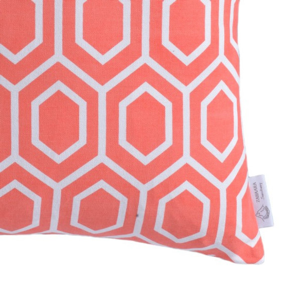 """Ella"" Coral WATERPROOF OUTDOOR Geometric Cushion Cover"