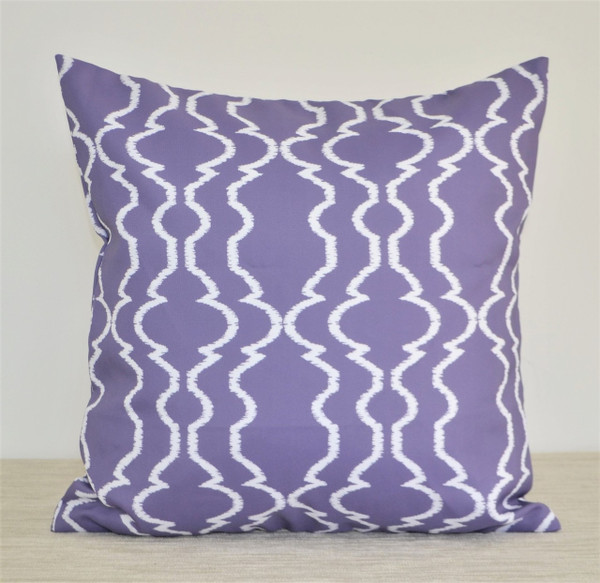 """Grapevine"" WATERPROOF OUTDOOR Pillow 18"" Purple, Violet"