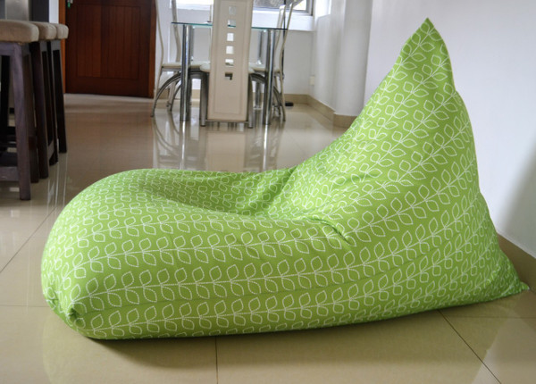 Green Waterproof Outdoor bean bag cover - leaves, nature, Kids to XL