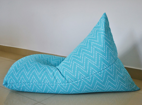 Outdoor Bean Bag Cover Waterproof Aqua/Turquoise/Blue - Kids to Extra Large
