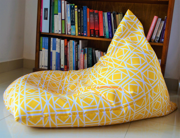 Yellow Waterproof Bean Bag Cover In/ Outdoor - Kids to Extra Large
