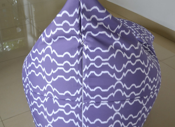 Purple Outdoor Bean Bag Cover Waterproof - Kids to Extra Large