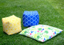 """ABAGAIL Yellow Pouf / ottoman waterproof in/outdoor 16"""""""