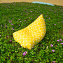 Tuscany yellow waterproof outdoor bean bag cover