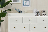 Joy Baby Royal 7 Drawer Change Table with Change Pad - White