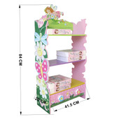 ALL 4 KIDS Girls Hand Painted Flower Bookcase