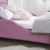 ALL 4 KIDS Pink Heart PU Leather Single Upholstered Bed
