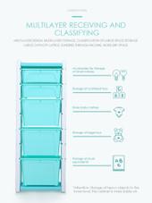 ALL 4 KIDS Kids Room 11 Tubs Bins Storage Unit Toy Box - Blue