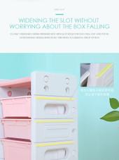 ALL 4 KIDS Kids Room 11 Tubs Bins Storage Unit Toy Box - Pink