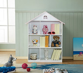 ALL 4 KIDS Veronica White Dollhouse Bookcase