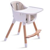 JOY BABY Amelia 2-in-1 Timber Highchair