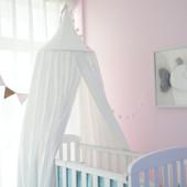 ALL 4 KIDS Aubrey Nursery Canopy - White