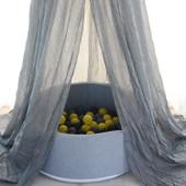 Joy Baby Alexander Grey Round Ball Pit
