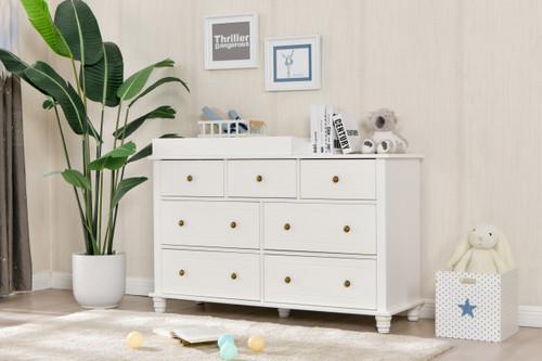 Joy Baby Royal 7 Drawer Change Table with Change Pad - White