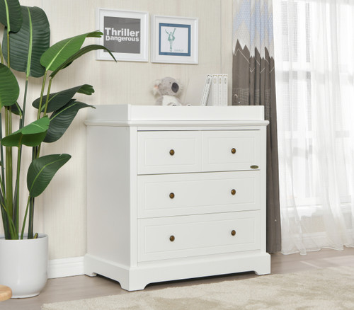 Joy Baby Comet 4 Drawer Chest of Drawer Change Table - White