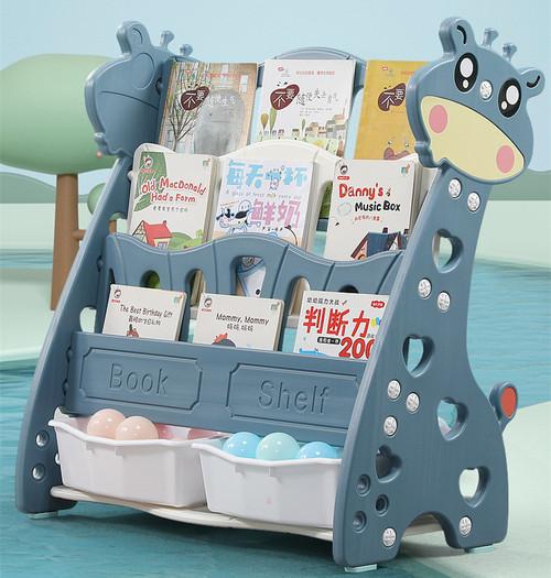 ALL 4 KIDS Kids Giraffe Bookcase Magazine Bookshelf - Powder Blue