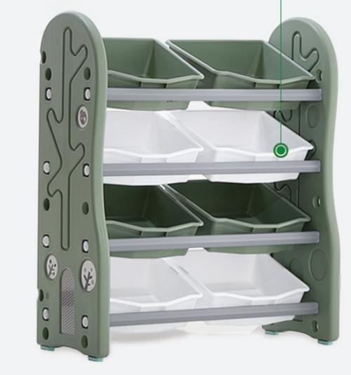 ALL 4 KIDS 4 Tier 8 Bin PVC Tubs Kids Baby Toy Box Storage Unit
