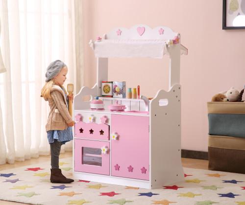 ALL 4 KIDS 2 In 1 Pretend Kitchen & Market Stall
