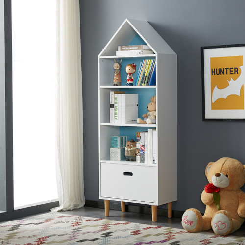 ALL 4 KIDS White Ivy Tall Kids Bookcase Storage Unit