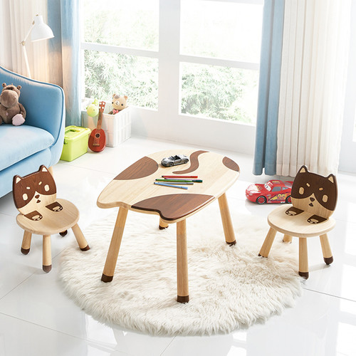 All 4 KIDS My Little Kitten Solid Timber Table and Chair