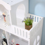 ALL 4 KIDS White Dollhouse Bookcase Book Shelf Storage Unit