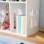 ALL 4 KIDS White Dollhouse Bookcase Book Shelf Storage Unit