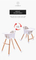 JOY BABY Amelia 2-in-1 Timber Highchair