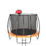 ALL 4 KIDS 6 FT Spring Trampoline with Safety Net & Basketball Board