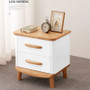 ALL 4 KIDS Ashley White Wooden Bedside Table