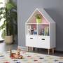 ALL 4 KIDS White Ivy Low Kids Bookcase Storage Unit