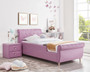ALL 4 KIDS Princess PU Leather Single Pink Upholstered