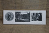 Photos engraved on a white ceramic tile.